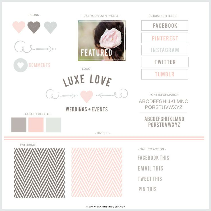 Luxe Love Blog + Web Kit | Dear Miss Modern