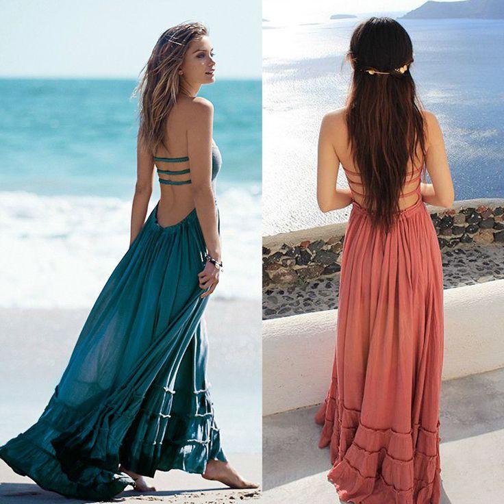 Summer Dress Women Bohemian Sleeveless People Sexy Dresses Boho Dress Blackless Party Hippie Bandage Beach Dress Vestidos