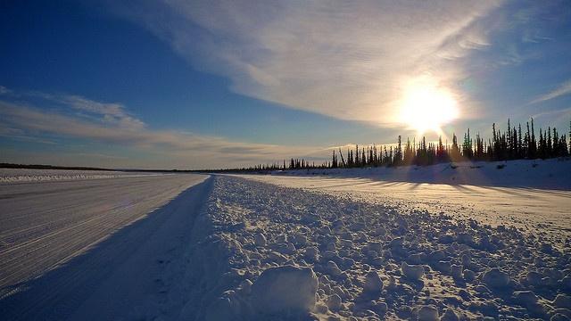 Ice road to Tuktayuktuk, NT