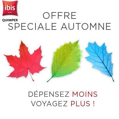 promotions pour les vacances de la Toussaint  Hôtel Ibis Quimper http://www.ibis.com/fr/hotel-0637-ibis-quimper/index.shtml