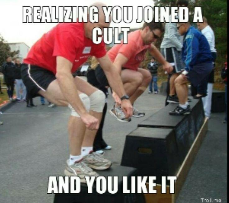 Daily Crossfit humor #cult #crossfucked #weaklinks @Rosarely Cortes