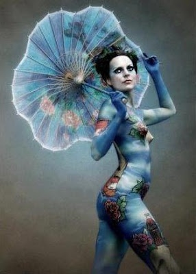 Demi moore body painting the art of body painting mo 239 cani l