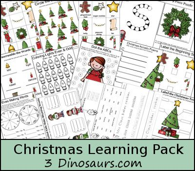 180+ pages of Christmas fun for 5-7 y/o's!! Awesome! And remember, Winter doesn't end with Christmas. Keep using those Winter-themed items after December 25th!! :)