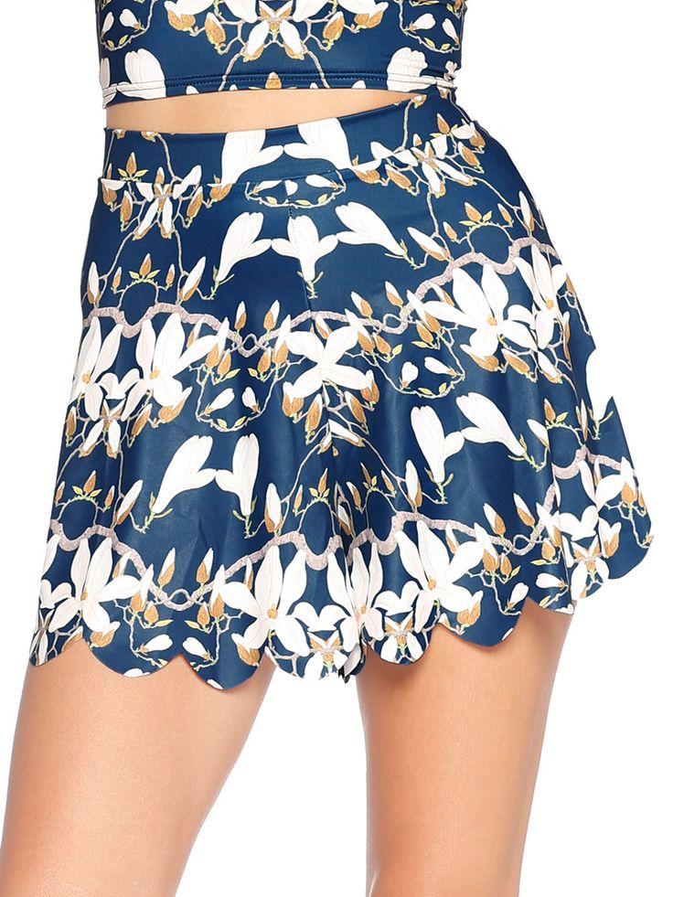 Twilight Magnolia Shorties - 48HR / LIMITED (AU $50AUD / US $35USD) by Black Milk Clothing