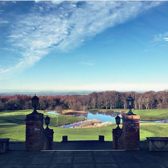 A gorgeous view of the countryside from our Terrace overlooking the 18th hole on our Oaks Championship Course taken by @styledbyemily #woodburypark #devon #golf #oakschampionship #terracebarandgrill #spa #treatments #hotel #leisure #sports #dining #weddings #events #regram