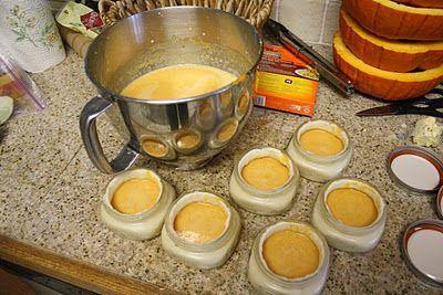 Mini pumpkin pies in a jar.