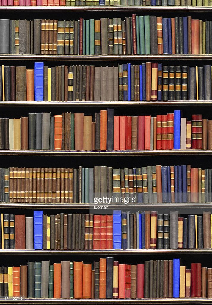 Stock Photo : Old books in a library