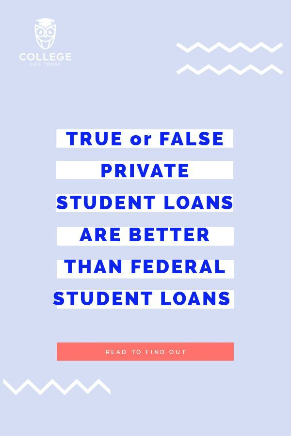 Private Student Loans >> How Do Private Student Loans And Federal Student Loans