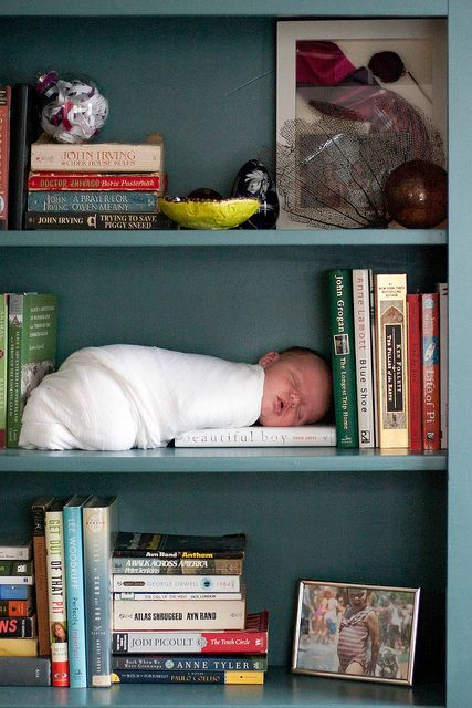 If I ever have a kid, I'm totally putting it on a bookshelf.