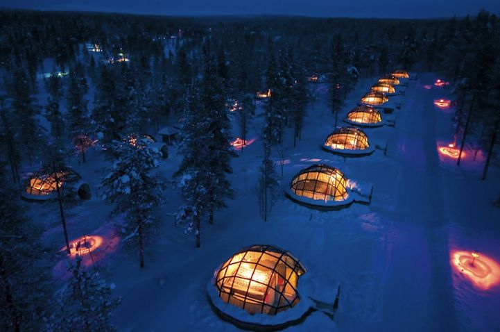 The Igloo Village in Kakslauttanen, Finland    A perfect place to view the Northern Lights.