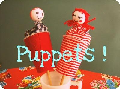 DIY pop-up puppets