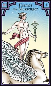 Hermes the Messenger from the Burning Serpent Oracle, Robert M Place