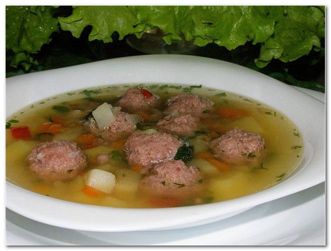 Рецепты супа с килокалориями