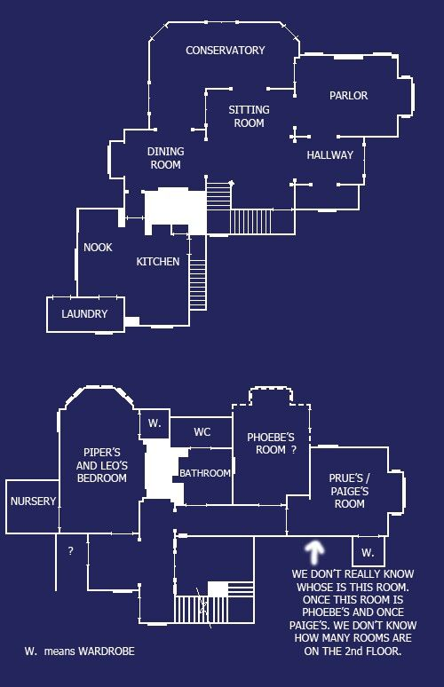 44 best floor plans images on pinterest cottage floor for Charmed house blueprints