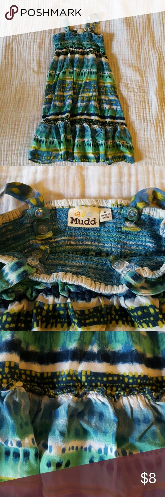 Mudd size 6 girls sundress Mudd size 6 girls sundress.  This dress is really cute and soft.  The straps have 2 buttons on each side to adjust the size.  Great condition. mudd Dresses Casual
