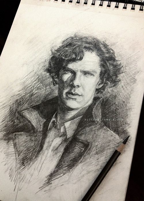 A straightforward sketch of Sherlock. Pencil on... - My plan is to crowdsource a plan.