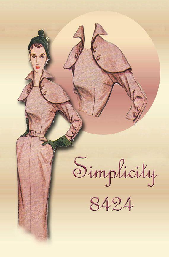 Simplicity 8424---1951 Career Dress