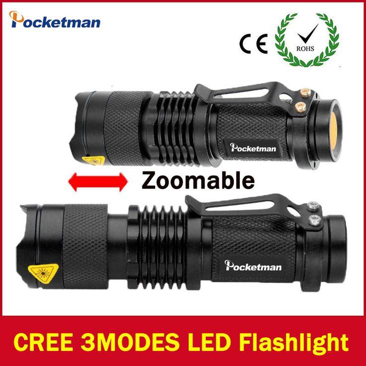 2017 LED lampe de poche Lanterna led Haute Puissance Torche 2000 lumen Zoomables mini lampe de Poche tatica lumière lanterne de haute qualité