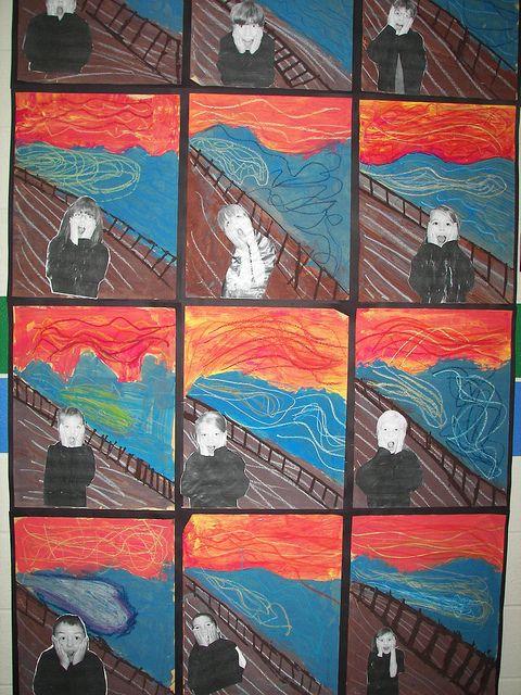 kids -The Scream (Norwegian: Skrik) is a series of Expressionist paintings and prints created by Norwegian artist Edvard Munch between 1893 and 1910