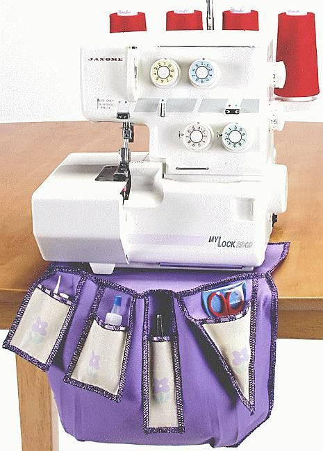 Serger Companion with thread catcher incorporated   - Janome free tutorial.