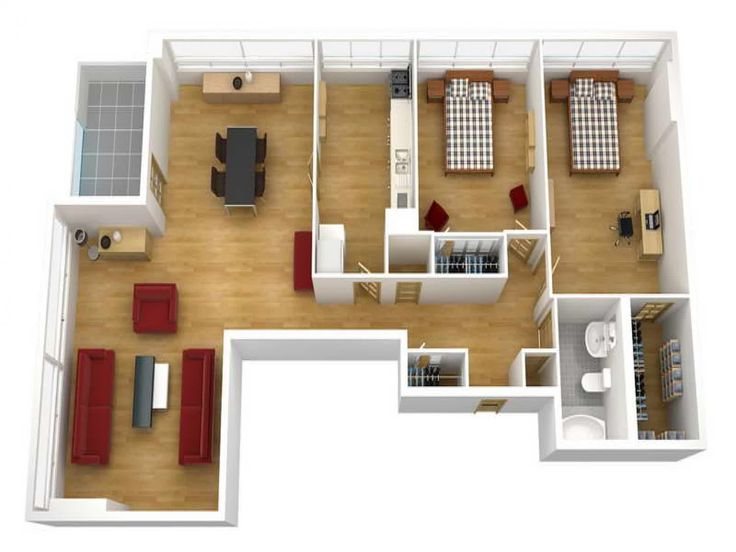 7 best home images on Pinterest | 3d house plans, Bedroom floor ...