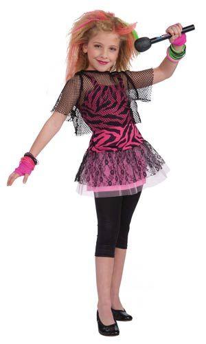 80's Rock Star Girls Costume
