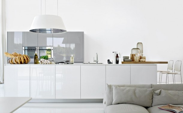 Witte Keuken Grijze Vloer : Beautiful White Kitchen