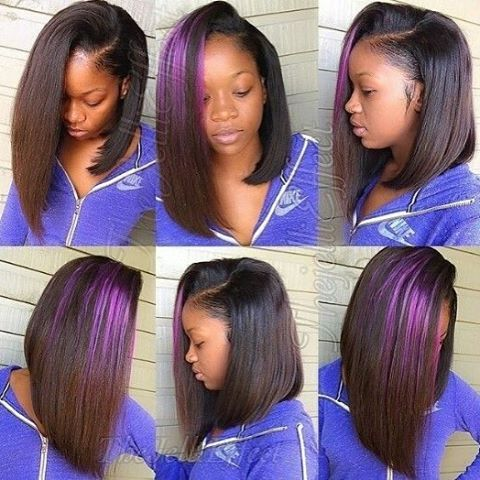 #hairinspiration Amazing bob life That purple hightlight is on point! #boblife #repost #bob #bobhair #haircut #hairstyles #hightlight #amazing #full #onpoint #shorthair #naturallook #hairline #edges #love #awesome #humanhair...