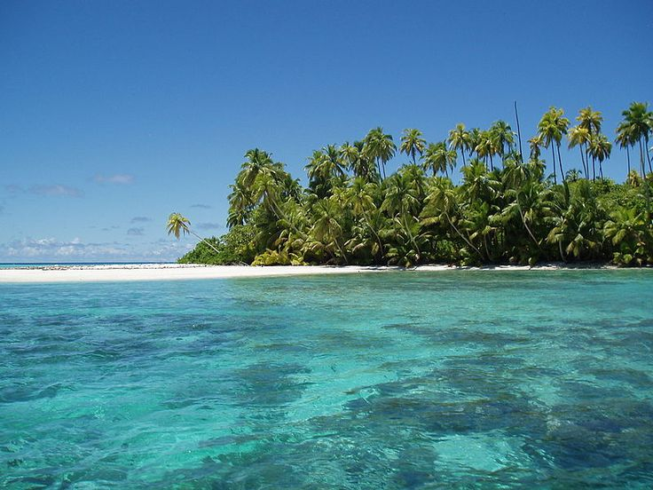 Salomon Atoll is one of the many above water features of the Chagos Archipelago