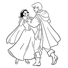 print coloring image prince and princesscoloring sheetssnow white