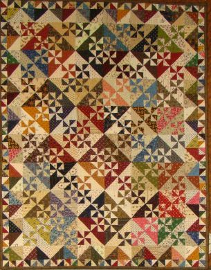 Pinwheel Garden Quilt pattern $8.00 on Primitive Gatherings Quilt Shop at http://www.primitivegatherings.us/shop/index.php?act=viewProd=9685