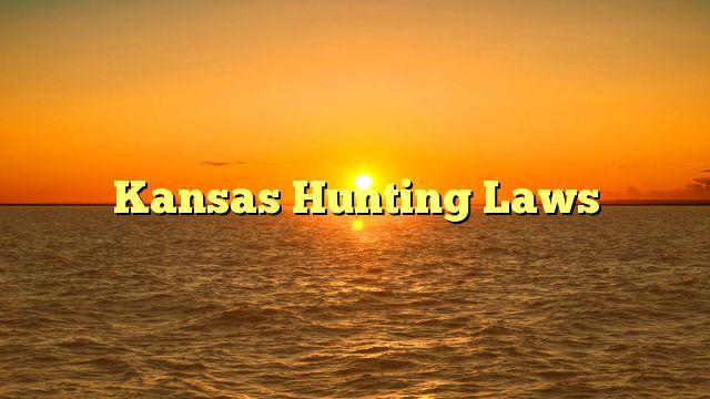 Kansas Hunting Laws - https://4gunner.com/kansas-hunting-laws/