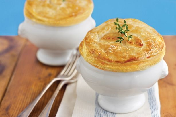 With golden pastry and a tender beef bourguignon-style filling, these pies are the ultimate weekend comfort food.
