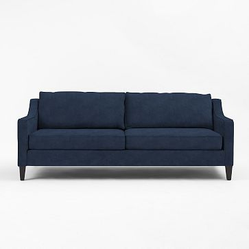 Paidge Sleeper Sofa #westelm currently on sale for $1274-normally $1499- don't forget that $100 surcharge. I likes that Ink Blue