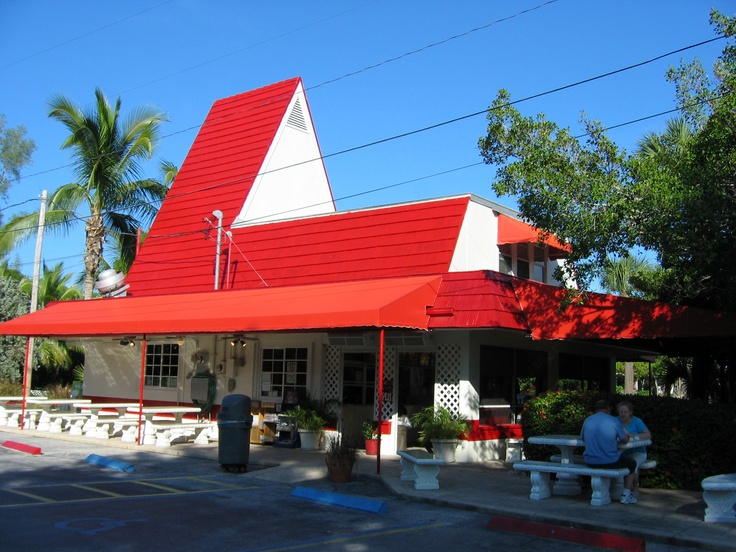 Dairy Queen  Sanibel Island, Florida - the best chocolate fudge sundae ever! We stopped off on our bikes here a lot...and I mean a lot. :)