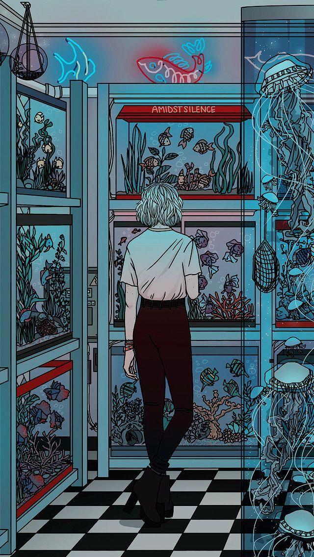 Aesthetic Girl Anime Wallpaper