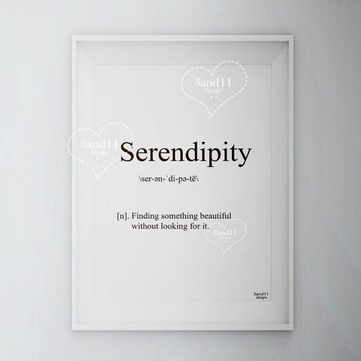 Serendipity definition gift art meaning decoration *** 3and11 Designs**** More products in our store: www.craftsy.com/profile/3and11-designs Blog:3and11designs.blogspot.com Follows in Instagram, Twitter, Facebook, Pinterest, Bloglovin and Google+ (3and11_designs)