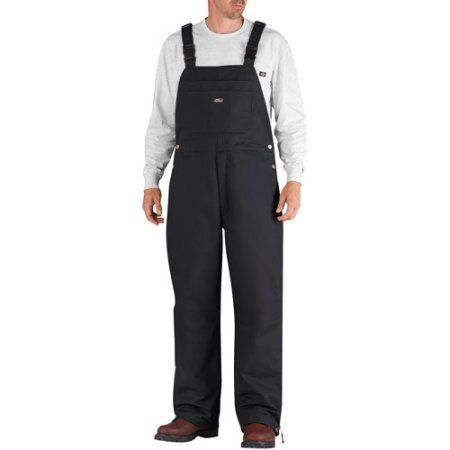Genuine Dickies Big Men's Insulated Bib Overalls, Size: 2XL, Black