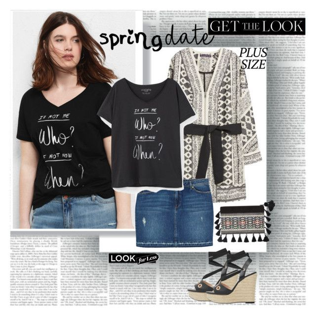 Spring Date Plus Size Get the Look by stylepersonal on Polyvore featuring polyvore, fashion, style, Violeta by Mango, MANGO, clothing and springdate