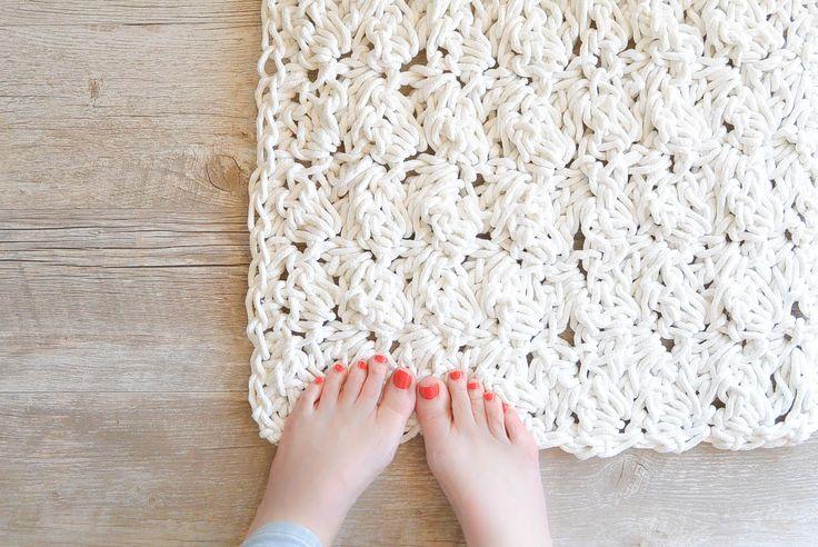 crochet bath rug rope