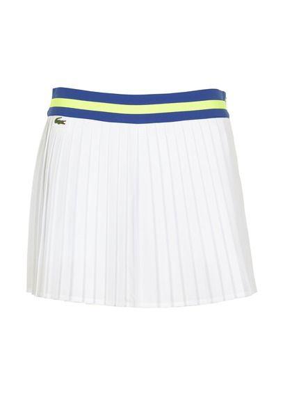 E-shop Lacoste - Jupe Tennis Plissée Blanc Lacoste pour femme sur Place des tendances Groupe Printemps. Retrouvez toute la collection Lacoste pour femme.