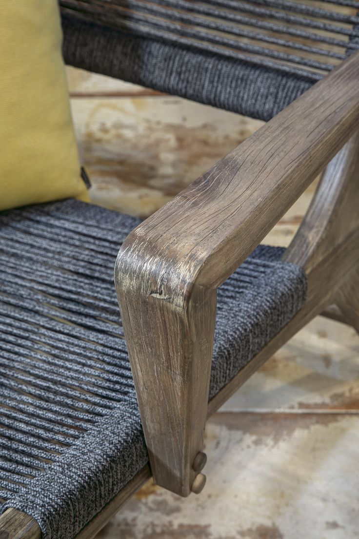 Benches chairs lounge chairs tables outdoor accessories - Detail Of The Lounge Chair From The Explorer Collection Oceans Seasonal Living Showroom At Las Vegas Winter Market 2017 Beautiful Indoor Ou