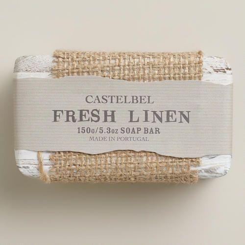 One of my favorite discoveries at WorldMarket.com: Castelbel Fresh Linen Bar Soap