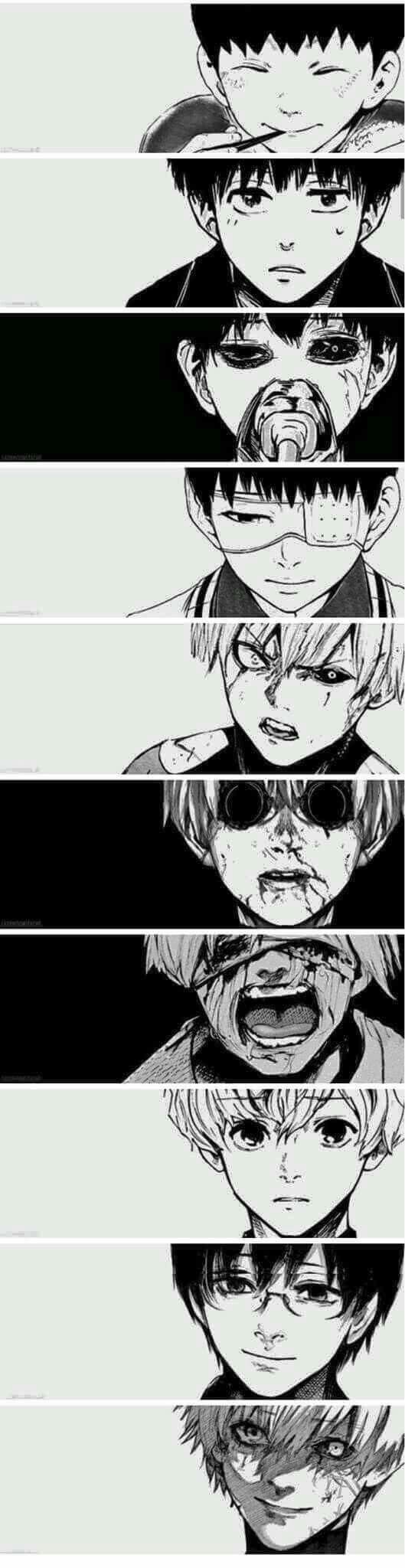Amo las imágenes que muestran la evolución de un personaje.