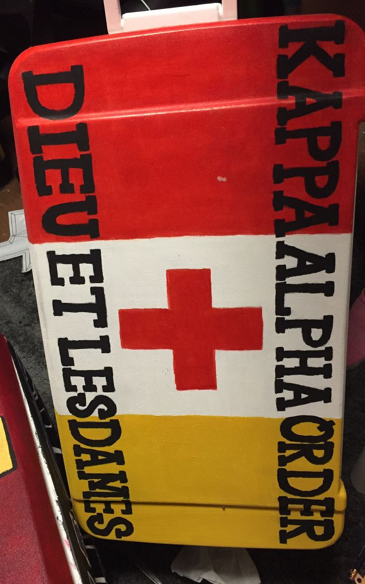 Kappa Alpha Order painted cooler