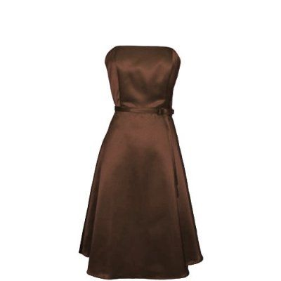 bronze bridesmaid dresses   Pacific Plex 50's Strapless Satin Formal Bridesmaid Dress , $50.