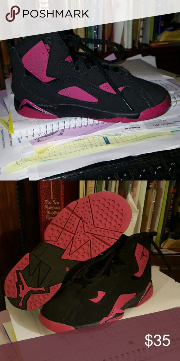 Pink and black jordan child Like new Jordan very clean  offers accepted let it make since Jordan's  Shoes Sneakers