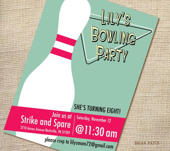 518 best Bowling Birthday Party Ideas images on Pinterest - bowling invitation