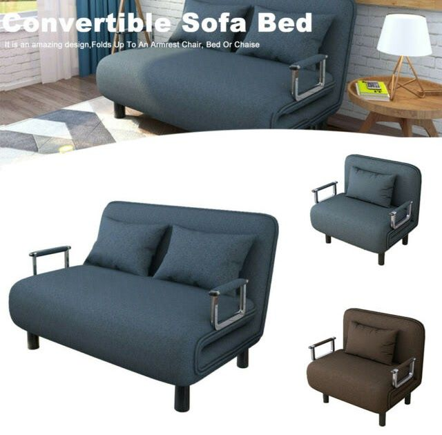 Cool 5 Position Folding Lounge Chair Sofa Bed Convertible Armchair