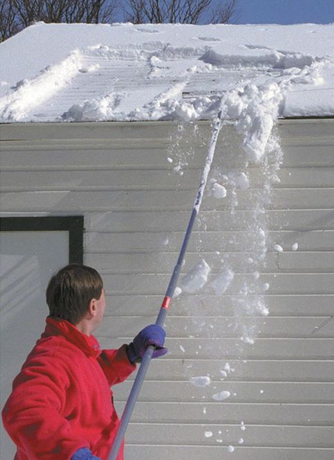 Snow Roof Rake To Prevent An Ice Dam.